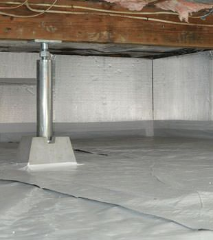 Installed crawl space insulation in Coweta